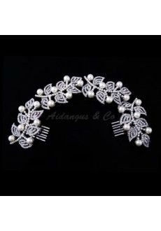 Faux Pearl Crystal Hair Comb