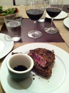 Seared Sesame Tuna Steaks