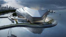 jian junkai + huang jinqi Concept Architecture, Futuristic Architecture, Contemporary Architecture, Amazing Architecture, Interior Architecture, Organic Architecture, Busan, Urban Fabric, Expositions