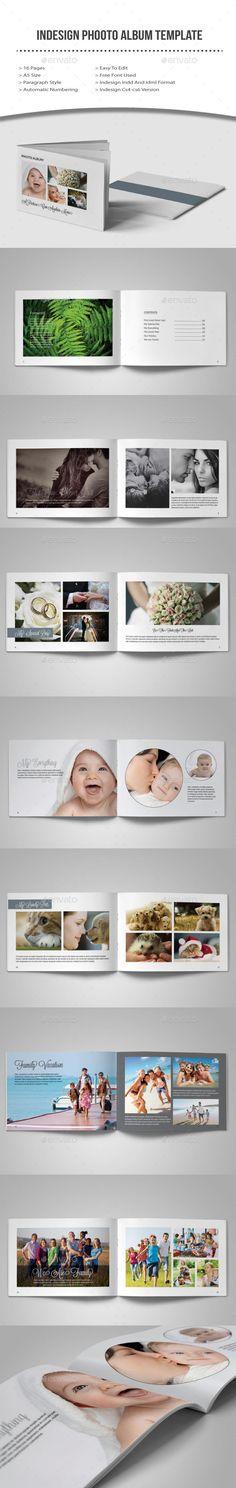 Indesign Photo Album Template #photographyalbum #albumdesign Download: http://graphicriver.net/item/indesign-photo-album-template/10400415?ref=ksioks
