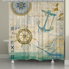 Mariner Sentiment Shower Curtain – Laural Home