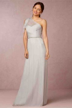 7d931154c7d2 Light Grey Chiffon Bridesmaid Dress - Wedding and Bridal Inspiration