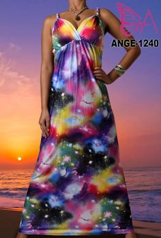 Rope Strap Dress in our ANGELA range with sizing available from 8-10 to 22-24. Available for order at www.maxidressheaven #maxidress #ropestrap #womensfashion #solarsystem