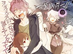 Garry from Ib is scared of Break from Pandora Hearts...I'd be scared to Garry.