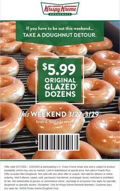 Pinned March 26th: $6 dozens this weekend at #KrispyKreme doughnuts #TheCouponsApp Custard Filling, Lemon Filling, Strawberry Filling, Apple Filling, Krispy Kreme Doughnut, Cinnamon Twists, Couponing 101, Doughnut Holes, Pumpkin Spice Cake