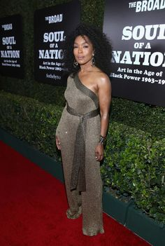 Angela Bassett attends The Broad Museum celebration for the opening of Soul Of A Nation: Art in the Age of Black Power Art Exhibition at The Broad on March 2019 in Los Angeles,. Get premium, high resolution news photos at Getty Images The Broad Museum, Angela Bassett, Queen Outfit, Red Carpet Looks, African Fashion Dresses, Famous Women, Celebs, Celebrities, Beautiful Black Women