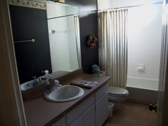 layout for second full bath  sink toilet shower