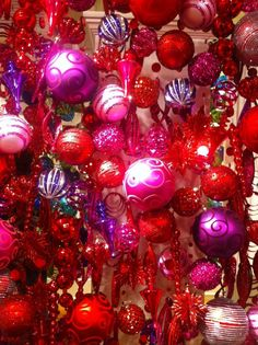 Purple and red Christmas decorations brightened up the Midwest CBK showroom!