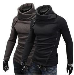 Free Shipping 2014 New Arrival Korean Version Warm Sweater Men Slim Turtleneck Heaps Collar Knit Pullover Black Grey M L XL XXL-in Pullovers from Men's Clothing & Accessories on Aliexpress.com | Alibaba Group