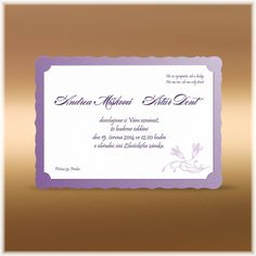 Luxusní svatební oznámení s ozdobným okrajem SK111