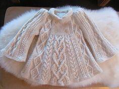 Ravelry: Coat for a princess Knitting For Kids, Baby Knitting, Crochet Baby, Knit Crochet, Baby Girl Patterns, Baby Dress, Lana, Ravelry, Knitwear