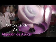 COTTON CANDY ART PRO - ARTE CON ALGODÓN DE AZÚCAR - 綿菓子 - 棉花糖 - САХАРНАЯ ВАТА - YouTube