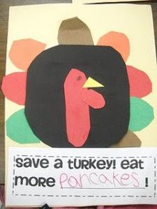 Thanksgiving Writing and Literacy Preschool Lesson Plan