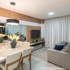 Flat Interior, Interior Design, Philippines House Design, Sala Grande, Dining Room Design, Cool Rooms, Small Apartments, Living Room Decor, Decoration