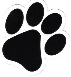 dog paw clip art black paw print silhouette dog art pinterest rh pinterest com dog paw clip art free clipart dog paws