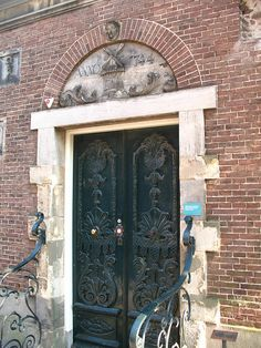Ornamental Door on the Rijksmuseum, Amsterdam