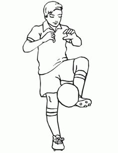 Soccer player kicking a corner coloring page, More soccer