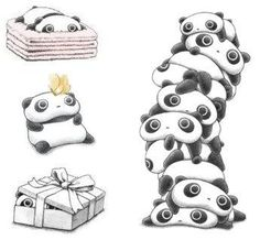 Tare Panda! He rolls, stacks and hides, all while shining his adorable Manson lamps