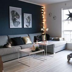 Navy Living Rooms, Small Living Rooms, Home Living Room, Living Room Decor, Flat Ideas, Apartment Design, Decoration, Furniture Decor, Interior Design