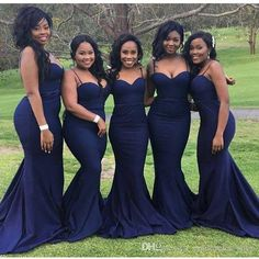 2016 New Dark Navy African Bridesmaid Dresses Spaghetti Mermaid Long Formal Maid of Honor Wedding Guest Dresses Cheap Plus Size Custom Bridesmaid Dresses African Bridesmaid Dresses Plus Size Bridesmaid Dresses Online with $105.0/Piece on Cinderella_shop's Store | DHgate.com