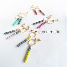 ゴールドサークル Bead Earrings, Handmade Accessories, Metal Jewelry, Handicraft, Tassel, Jewelry Design, Jewelry Making, Beaded Bracelets, Jewels