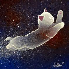"""Shooting star"" Original painting by Raphaël Vavasseur art Original painting: http://ift.tt/1RpReVa Fine art prints: http://ift.tt/2qckkzr"