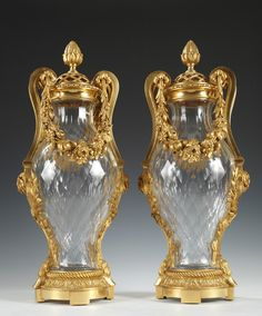 Buy online, view images and see past prices for A Pair of Baccarat Crystal and Gilded Bronze Amphora Shaped Vases. Invaluable is the world& largest marketplace for art, antiques, and collectibles. Baccarat Crystal, Crystal Vase, Porcelain Dolls For Sale, Fine Porcelain, Porcelain Ceramics, Vases, Blue Table Lamp, China Tea Sets, Ceramic Tableware