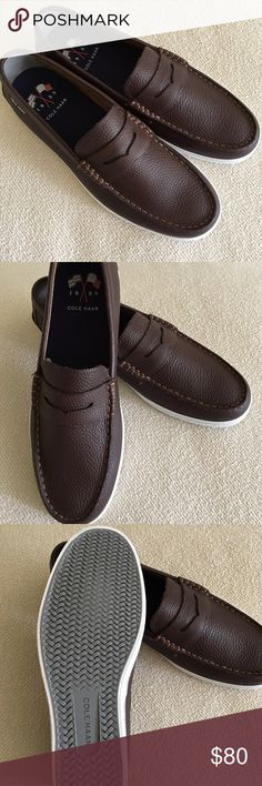 NWT Men's Cole Haan Weekender Loafers Brand new, never worn. Brown leather loafers. Comes with box. Perfect shoe for summer! Cole Haan Shoes Loafers & Slip-Ons