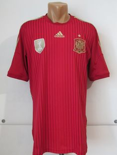 Spain 2014/2015 home football shirt by Adidas WorldCup camiseta soccer jersey #spain #espana #adidas #worldcup #fifa #spanish #jersey #soccer #football #furiaroja