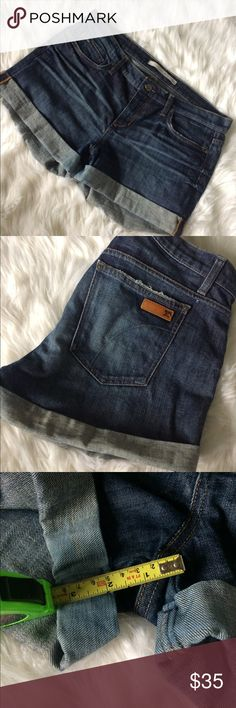 Joes Jeans Cuffed Jean Shorts Designer Leather 31 GUC Joes Jeans cuffed shorts. Size 31 Joe's Jeans Shorts Jean Shorts
