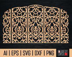Decorative screen cnc, cnc file, laser cut file, folding screen, wedding cut file, cnc cut file, die cut file svg, cutting files, cut file, by laserCutTemplate on Etsy