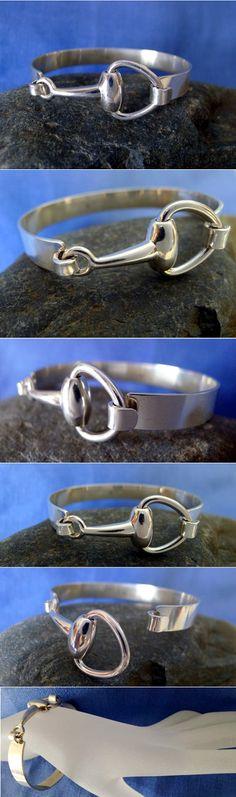 sterling silver designer snaffle bit bracelet!