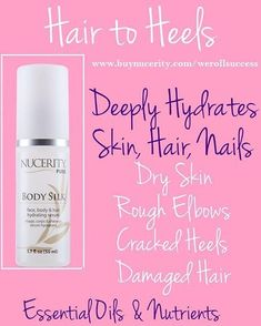 Winter weather creating havoc for your hair and skin?? Body silk is like a spa in the bottle for the top of your head to the tips of your toes hydrating! #dryskin #silkyhair #hydrate #bodysilk #nucerity #werollsuccess