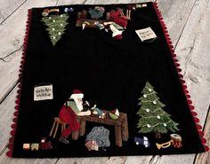 North Pole Workshop Wool Applique Pattern