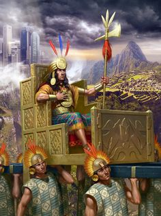 Emperor of the Incas Aztec Empire, Inca Empire, Soldado Universal, Inca Art, Meditation Images, Maya Civilization, Inca Tattoo, Aztec Art, Fantasy Races