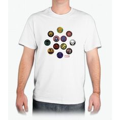 Marvel Grunge Icons - Mens T-Shirt