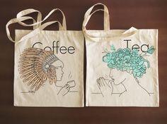 Tirada serigraficas de bolsas de tela