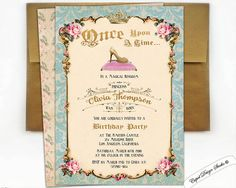 Cinderella invitation Cinderella party Cinderella by CupidDesigns