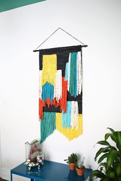 (Fast + Easy!) Large Tapestry Wall Hanging DIY—click through for tutorial