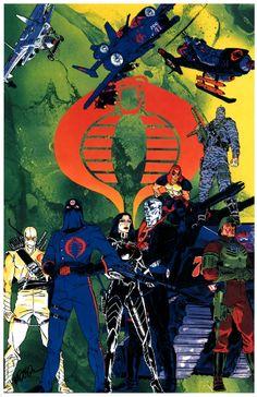 The COBRA top dogs. Remember This Nostalgia for boys girls Thundercats, Comic Book Artists, Comic Books Art, Comic Artist, I In Team, Cobra Commander, Nostalgia, Morning Cartoon, Storm Shadow