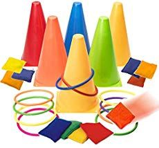 Prextex 3 in 1 Carnival Outdoor Games Combo Set Cornhole Bean Bags Ring Toss Game and Birthday Party Outdoor Games Supplies Plastic Cone Set 26 Piece Set Carnival Activities, School Carnival Games, Carnival Games For Kids, Carnival Birthday Parties, Carnival Party Games, Spy Party, Circus Birthday, Indoor Activities, Summer Activities