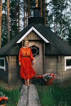 Visting the beautiful region of Tampere, Finland (wearing a red Zara dress).