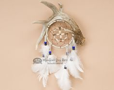 "Navajo Dream Catcher Medicine Wheel Antler 4"" - Mission Del Rey Southwest"