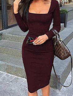 Women's Fashion Vestidos Bodycon Online Shopping – Chic Me Mode Outfits, Fashion Outfits, Womens Fashion, Dress Fashion, Ladies Fashion, Chic Outfits, Fall Outfits, Fashion Sandals, Classy Outfits
