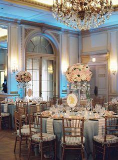 Elegant wedding reception.