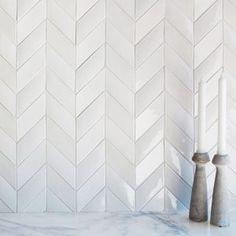 Chevron Kitchen, Chevron Tile, Kitchen Backsplash, Mosaic Tiles, Wall Tiles, Cozy House, Kitchen Remodel, Building A House, Tile Floor