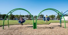Multiple User Playground Swing for Ages 5 to 12 - Oodle Swing, Double - NEW!