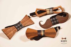 Pajaritas de madera de nogal | Mr. Bowtie