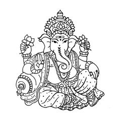 Ganesha Drawing, Lord Ganesha Paintings, Ganesha Art, Wedding Drawing, Wedding Painting, Wedding Art, Wedding Symbols, Hindu Wedding Cards, Elefante Tattoo
