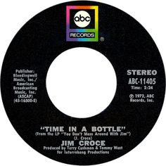 Time in a Bottle by Jim Croce 70s Music, Good Music, Music Radio, Old Records, Vinyl Records, Baby Boomer, My Favorite Music, Favorite Things, Vinyl Music
